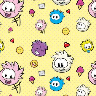 Yellow Puffle Pattern