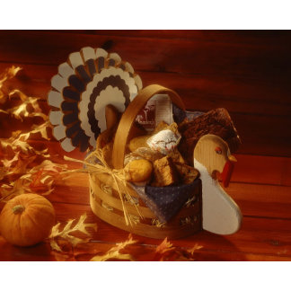 Turkey basket  with muffins and cookies