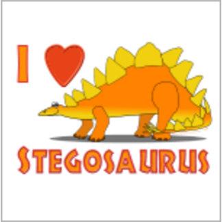 I Love Stegosaurus with animal