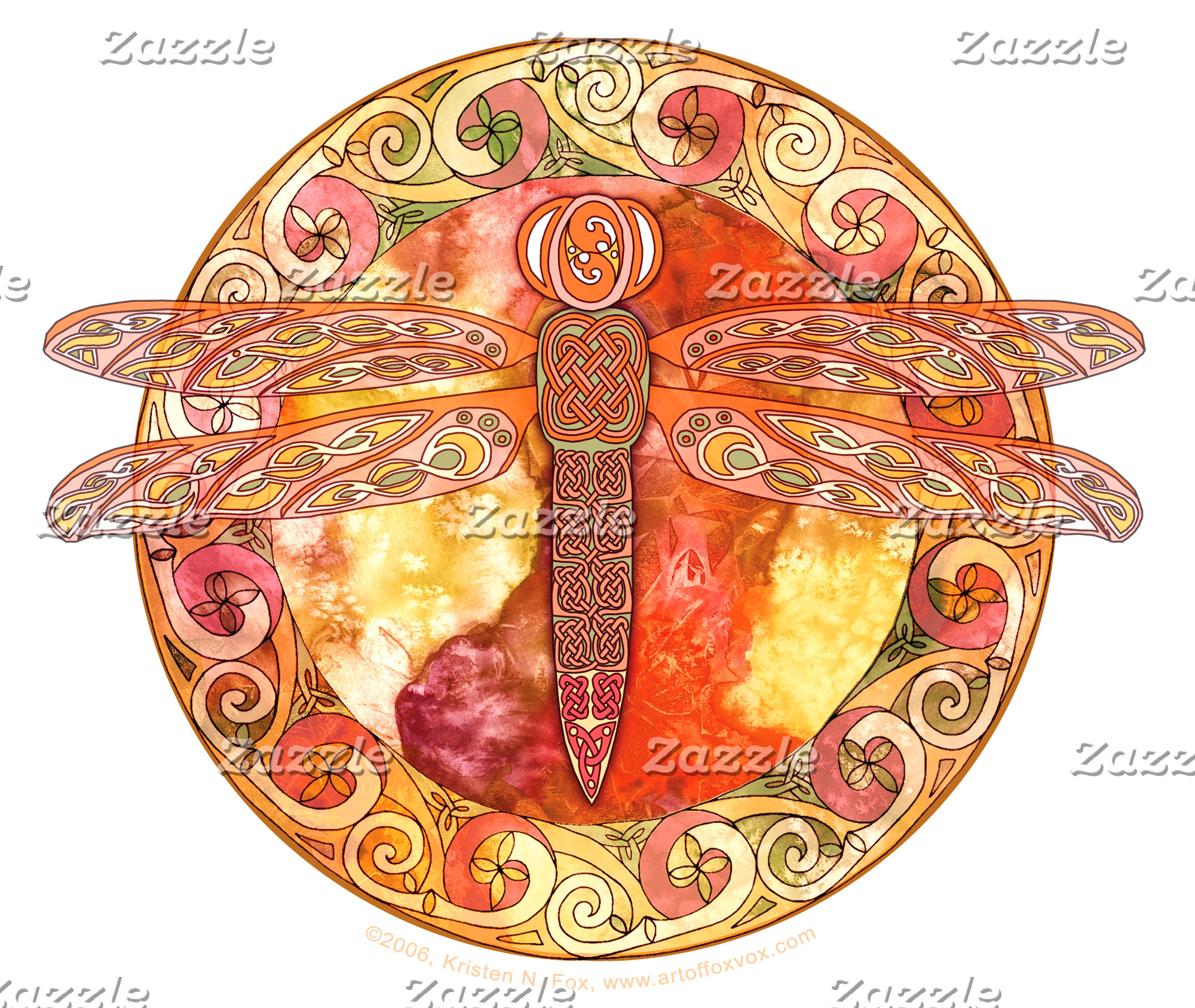 Hot Celtic Dragonfly