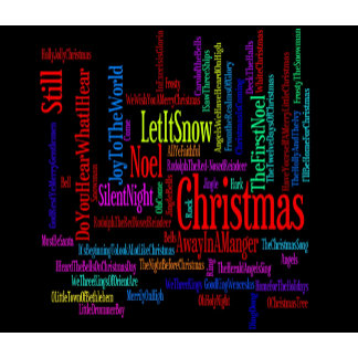 Colorful Christmas Songs on Black