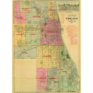 Blanchard's map of Chicago and environs