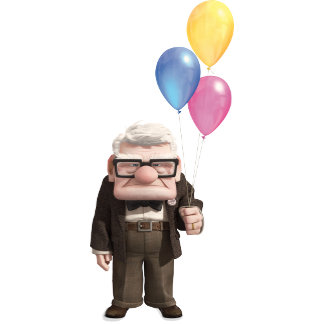 Carl from the Disney Pixar UP Movie Holding