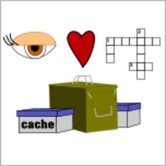 I Love Puzzle Caches Rebus