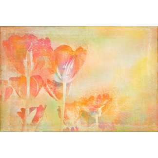 Spring Tulips Pastel Watercolor