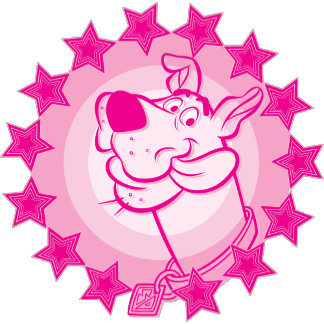 Scooby Doo in Pink Stars and Circles