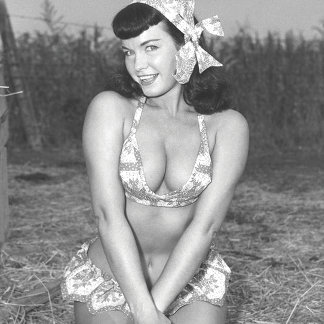 Bettie Page Vintage Pinup Girl On The Farm