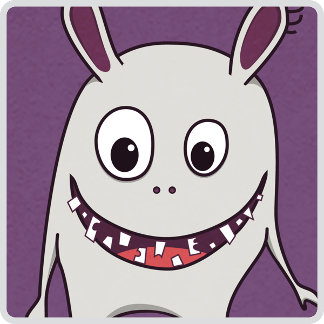 28 - Funny Cracked Teeth Happy Monster