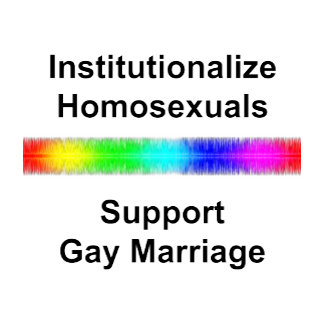 Institutionalize Homosexuals..Support Gay Marriage