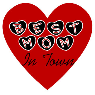 Red Heart Best Mom in Town