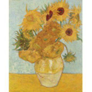 Vincent Van Gogh Vase With 12 Sunflowers