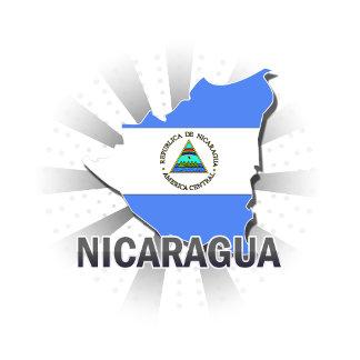 Nicaragua Flag Map 2.0