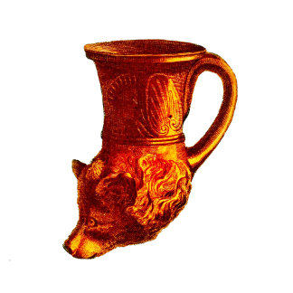 Greek Bear Head Cup