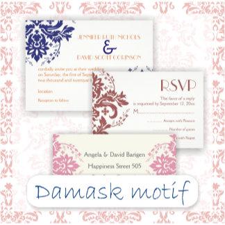 Elegant damask motif