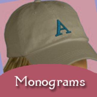 Monogram Initial Totebags, Jackets, Caps