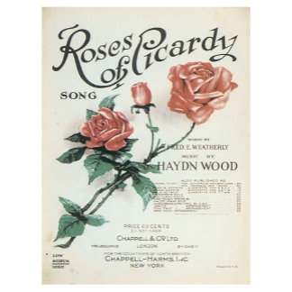 Roses of Picadry - Vintage Song Sheet Music Art