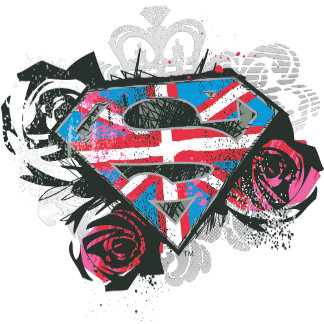 Supergirl British Flag and Roses