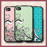 Vine Swirls Damask iPhone 4 Cases