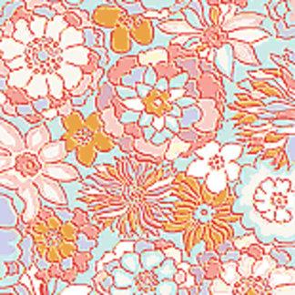 Sweet Retro Summer Flowers