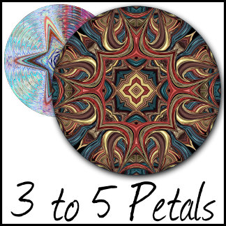 3 to 5 Petals Kaleidoscopic