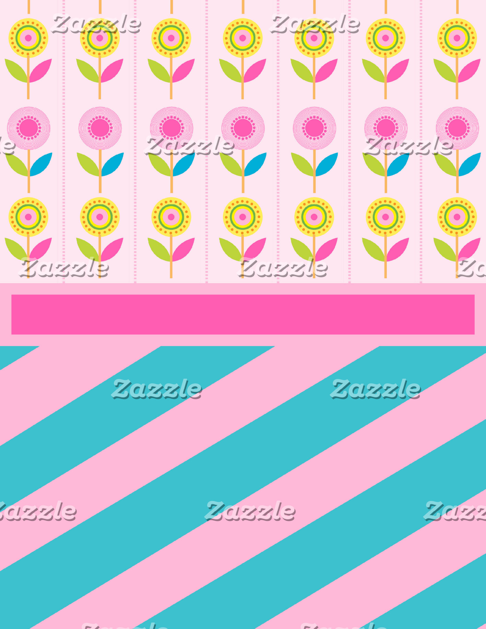 Pretty Spring Scenes with Flowers and Stripes