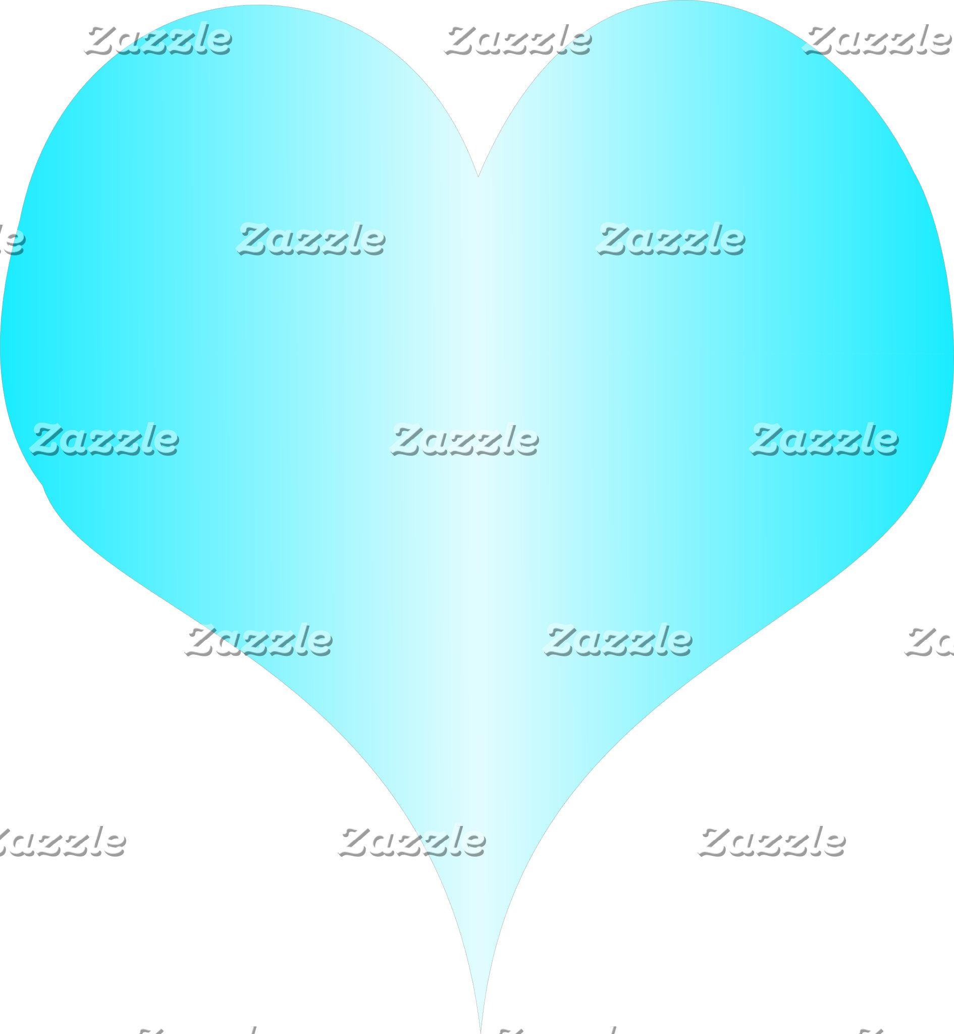 Pale Blue Heart Stripe