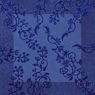 Damask 2 Tone Blue 5