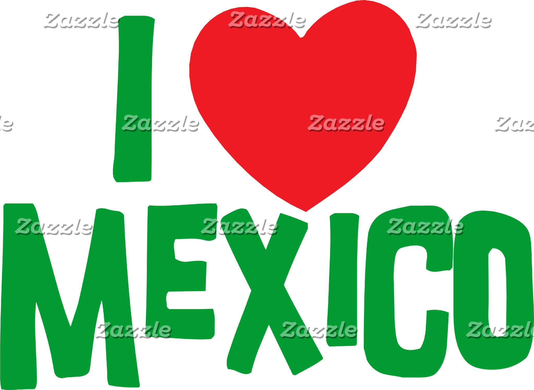 I Love Mexico T-Shirt Card Gift