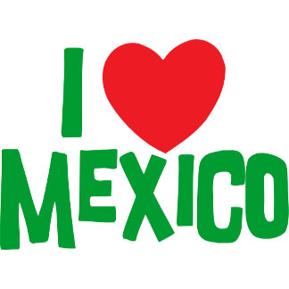 I Love Mexico T-Shirt Card Gift