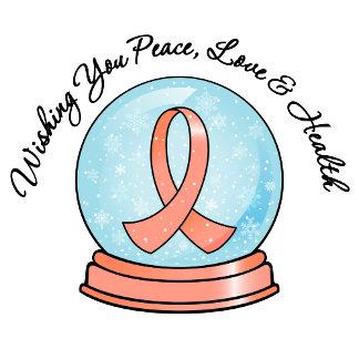 Uterine Cancer Merry Christmas Snowglobe