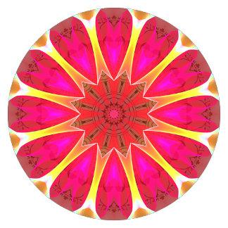 Cherry Daffodil Abstract Modern Flowers Mandala