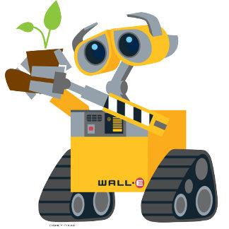 WALL-E robot sad holding plant