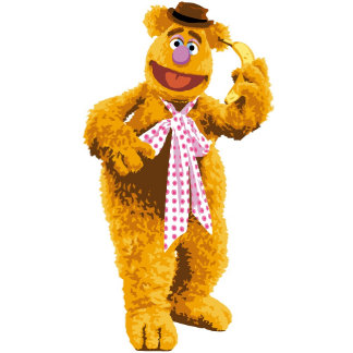 Muppets Fozzie Bear standing holding banana
