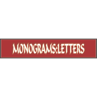 Monograms: Letters
