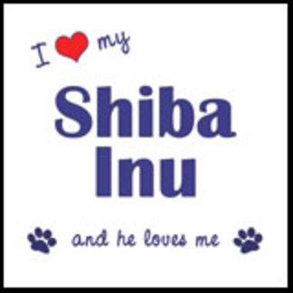 I Love My Shiba Inu (Male Dog)