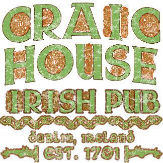 CRAIC HOUSE Irish Pub Tshirt