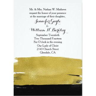 Modern Black and Gold Paint Wedding Set