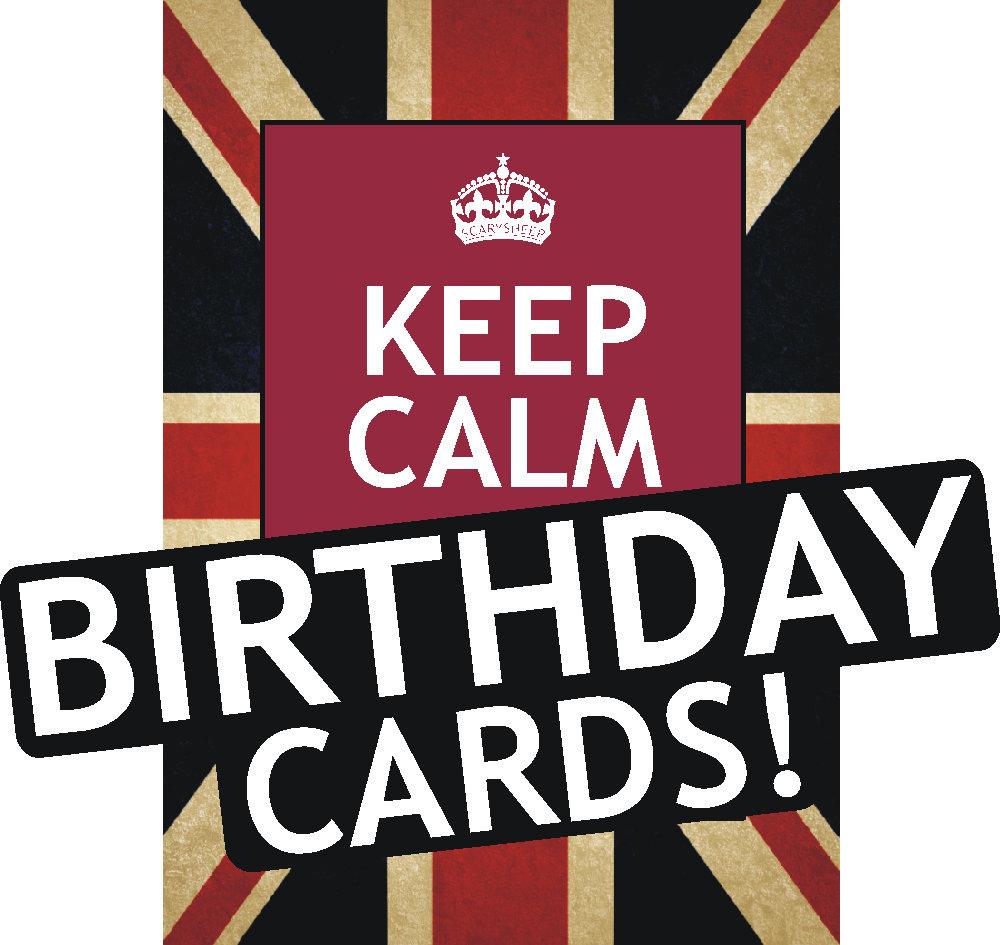 Assorted Keep Calm Birthday Cards