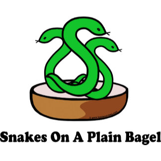 Snakes On A Plain Bagel