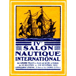 1929 Paris Nautical Show Poster
