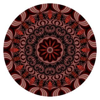 Chocolate, Raspberries, Peppermint Stick Mandala