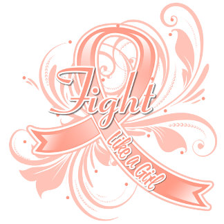 Endometrial Cancer Fight Like a Girl Flourish
