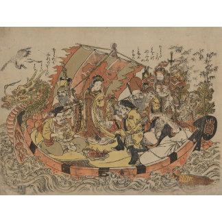 Seven Gods Of Good Fortune In The Treasure Boat