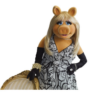 Miss Piggy Leaning on a chair
