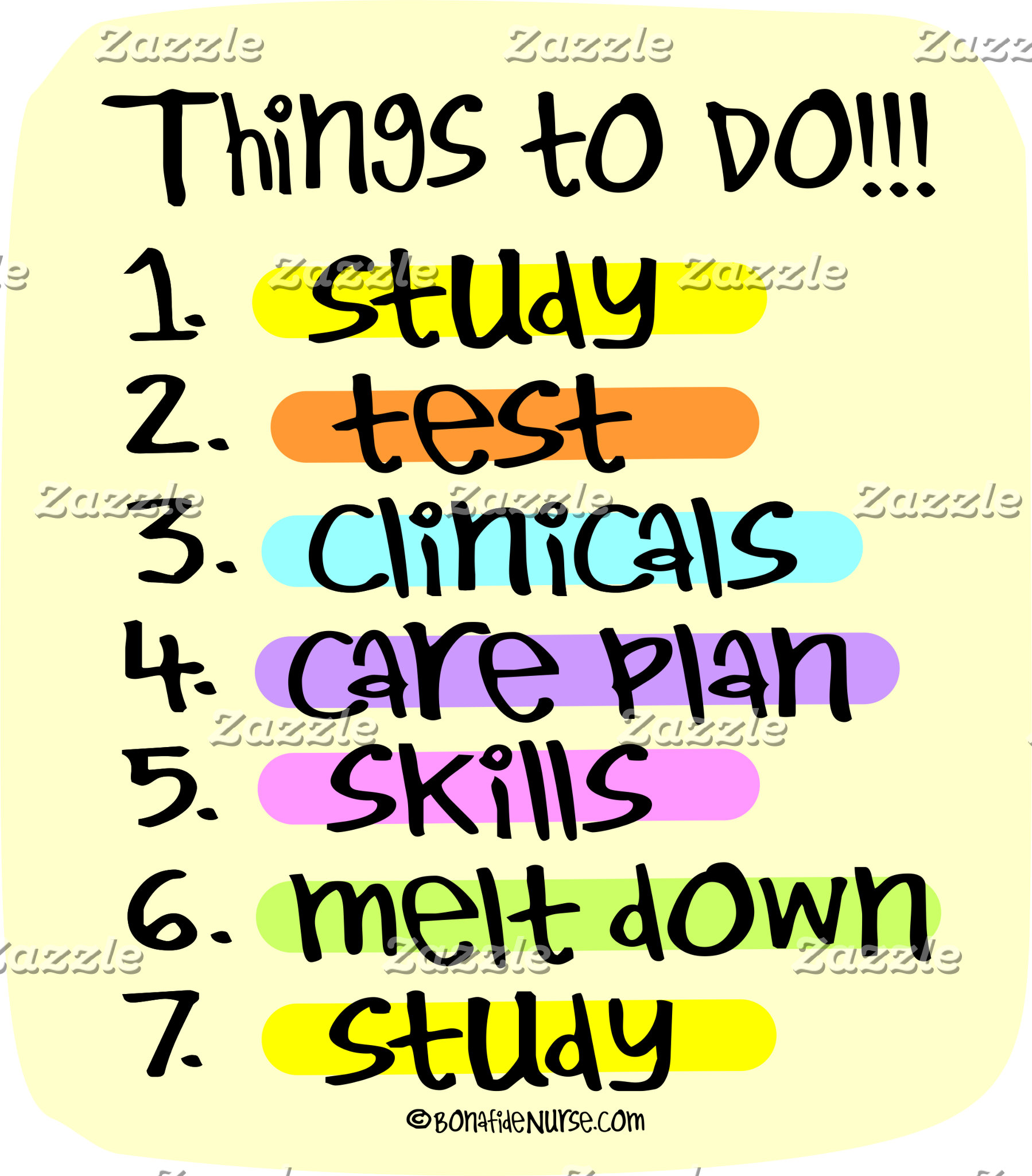 Student Nurse To Do List