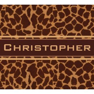 Giraffe Skin Print Pattern Personalize Gifts