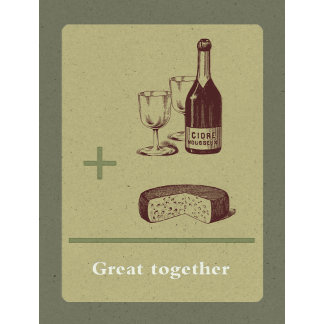 """""""Cider and Cheese poster print"""""""