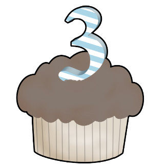 3rd Birthday Cupcake
