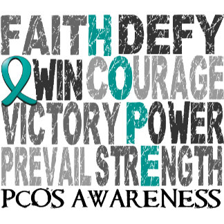 Hope Word Collage PCOS