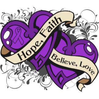 Epilepsy Hope Faith Dual Hearts